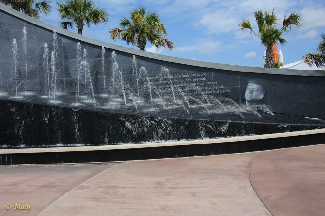 Entrance to the Kennedy Space Center at Cape Canaveral