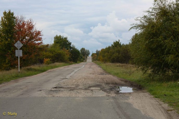 Another abandoned road vic Chernobyl