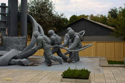 another view of the first responders memorial
