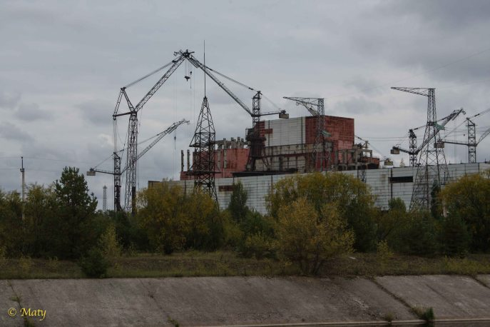Unfinished blocks in the Chernobyl Nuclear Plant