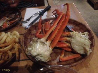 Some crab legs...