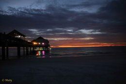 Awesome sunset at Clearwater Beach!