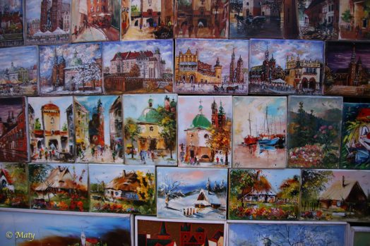 you can get some amazing oil paintings around Krakow