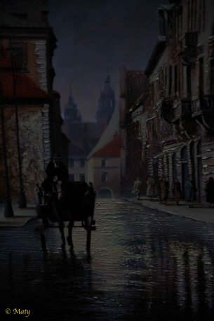 one of the old oil paintings of Krakow...
