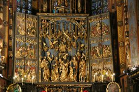 Gothic Altarpiece by Veit Stoss in the Saint Mary's Basilica (Kościół Mariacki)