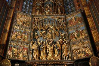 Gothic Altarpiece by Veit Stoss in the Saint Mary's Basilica (Kościół Mariacki)