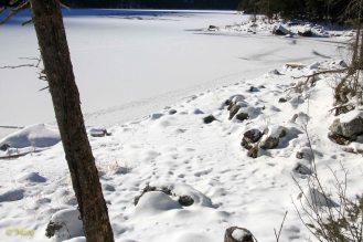 Frozen Eibsee Lake