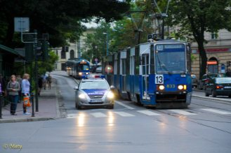 Tram and Krakow's finest