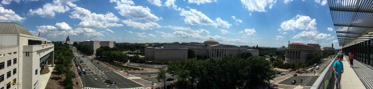 Panorama of DC from the top story of News Museum