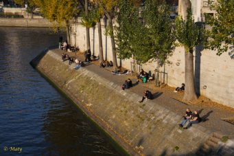 resting at the bank of Seine River