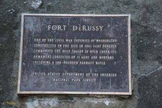 Plaque commemorating Fort DeRussy