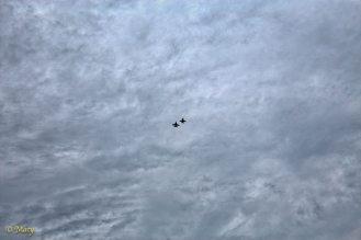 F-18 Hornets on the horizon