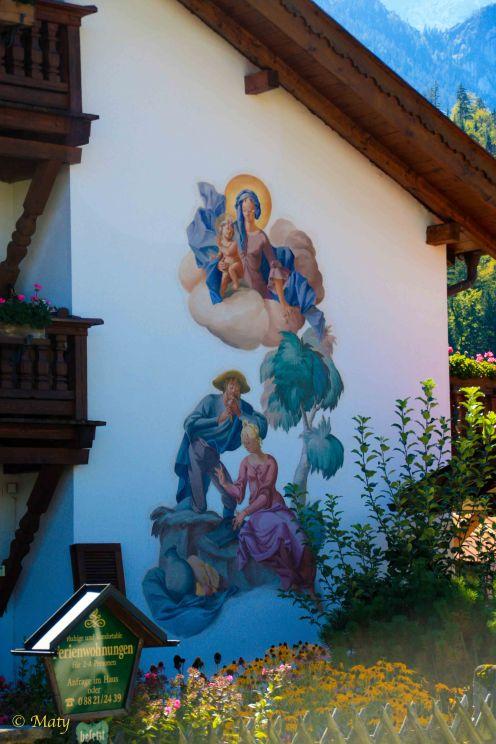 Garmisch - walking around guesthouses: every single one has unique murals