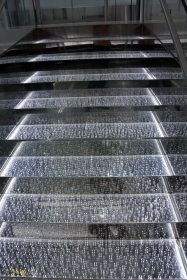 close up of the crystal stairs