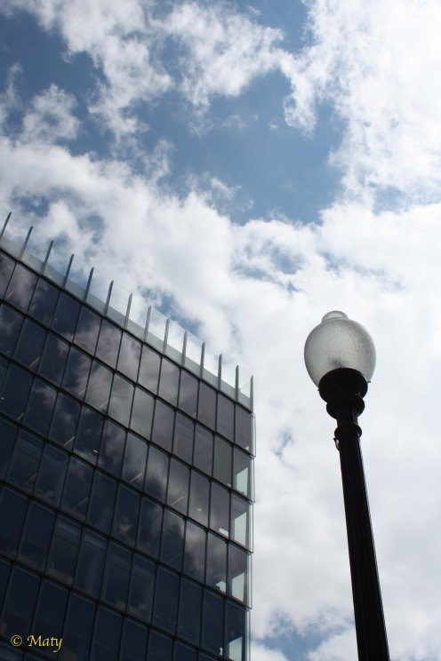 We got some sky, some glass, steel and a light