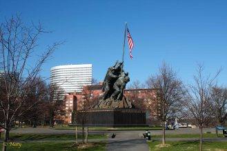 Marine Corps War Memorial - from the distance