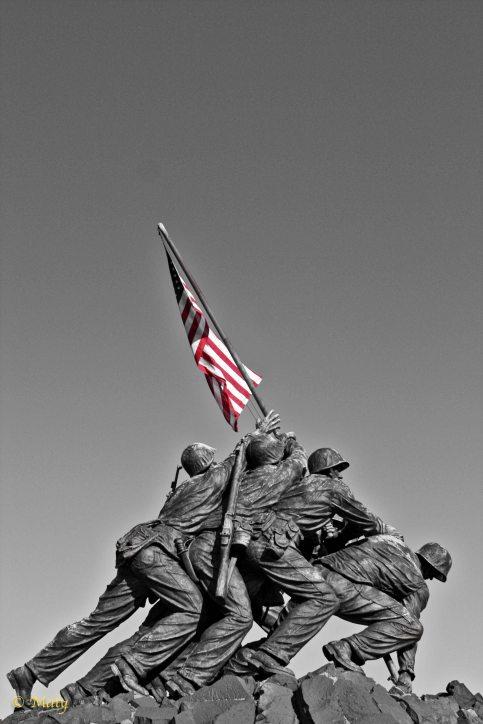 Marine Corps War Memorial - more dramatic