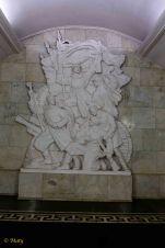 There is plenty of art and old Soviet nostalgia (Smolenskaya metro stop)