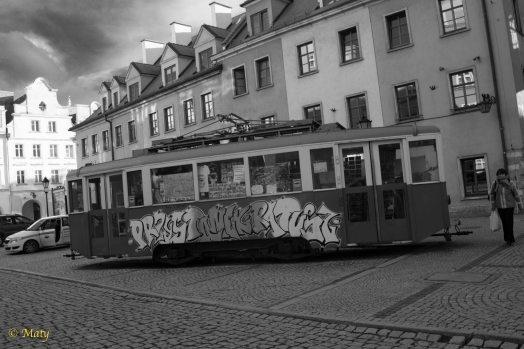 Tram at Main Market - City Hall (Ratusz)