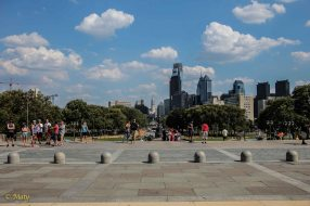 Look at the Dowtown Philly and the City Hall - the way Rocky seen it after his run