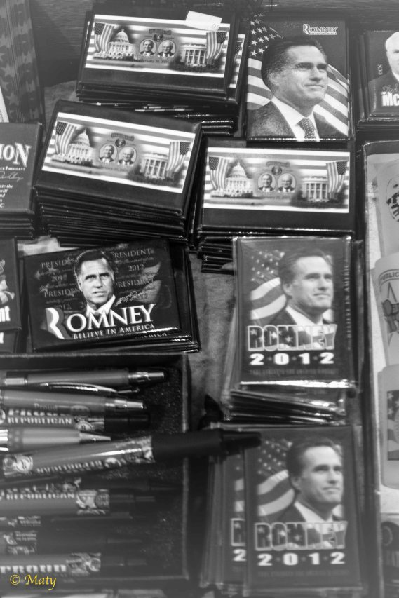 The drama of old Presidential Elections in little gift store in Old City Alexandria