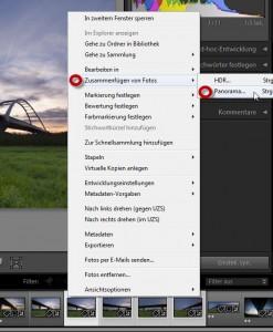 Panorama-Menue-Auswahl