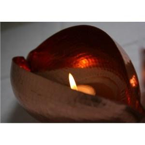 large-copper-pod-tea-light-holder-side-view