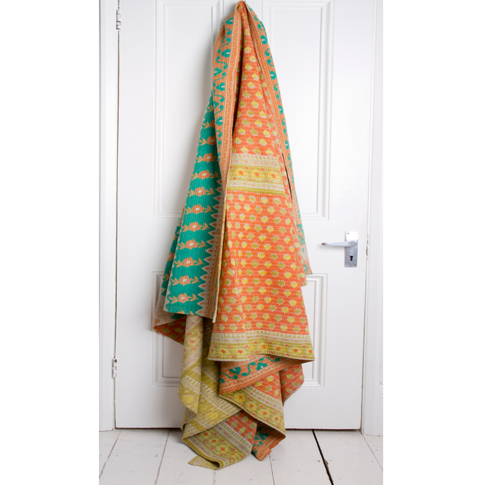 lila vintage kantha quilt maud interiors