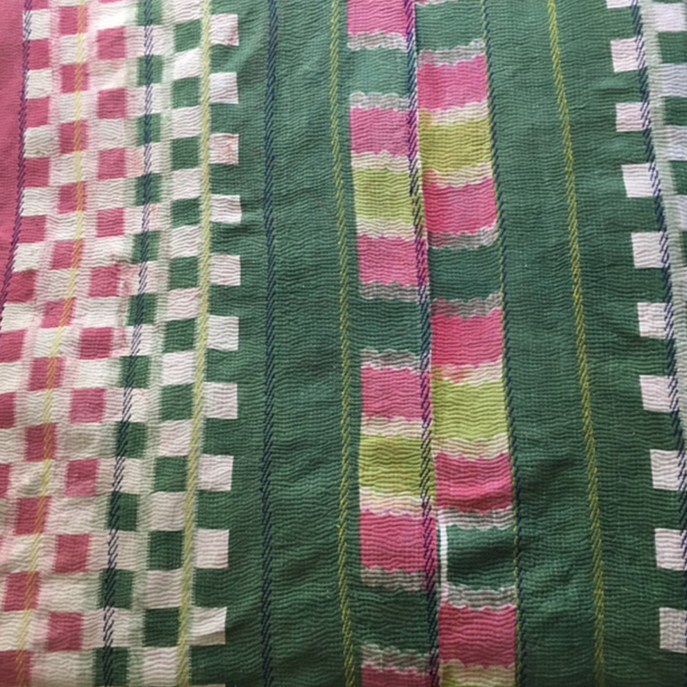 Indian vintage kantha blanket