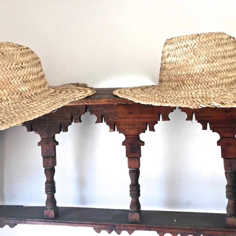 Sun hats Riad Due Maud interiors