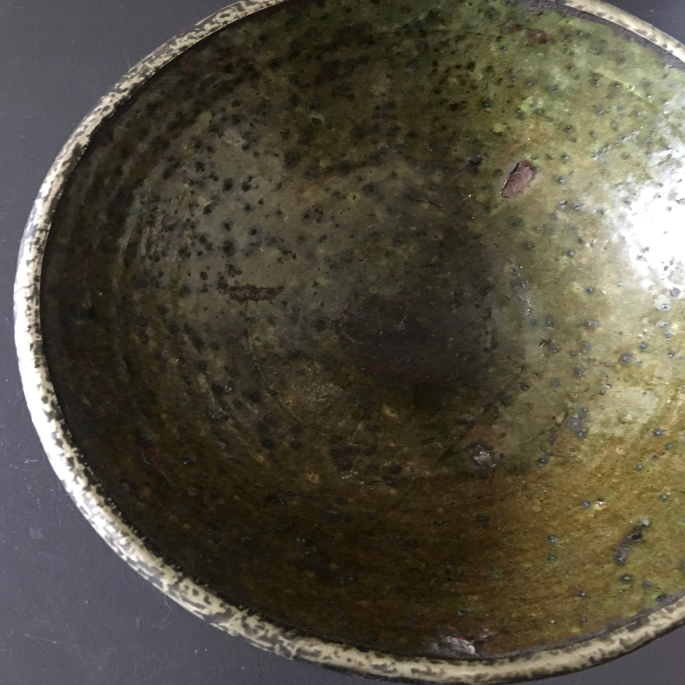 silver rimmed bowl