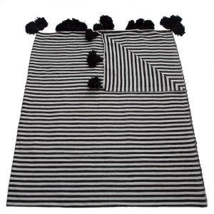 striped cotton blankets