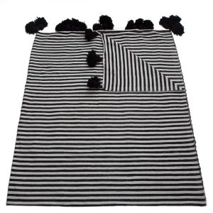striped cotton blankets