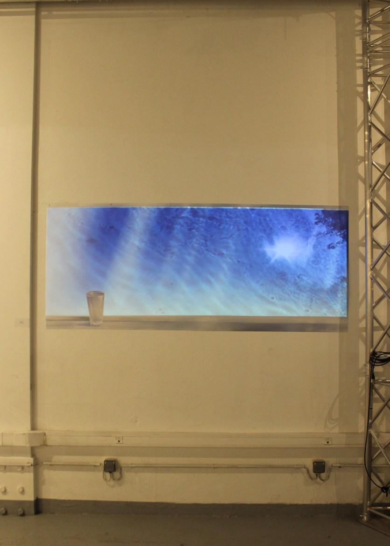 WINDOW, digital drawing on archival pigment print and video projection, 200 x 80 cm, at Les nouvelles Libertés, Le 100ecs, Paris (Nov. 15 - Dec. 2nd 2018)