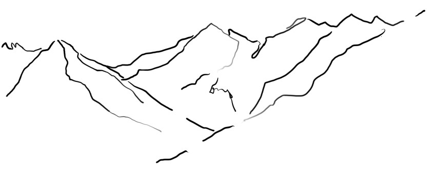 LIFE LINES II, 2020, digital drawing printed on fine arts paper, variable dimensions.
