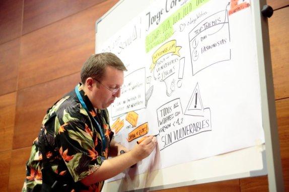 Excelente trabajo de Javier Alonso (@oyabun) con su #graphicrecording de las ponencias.