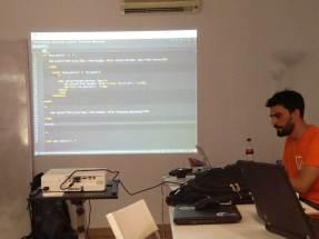 Mauricio Gelves en el Contributor Day de la WordCamp Sevilla 2016
