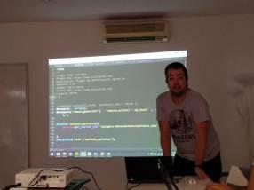 Nilo Velez en el Contributor Day de la WordCamp Sevilla 2016