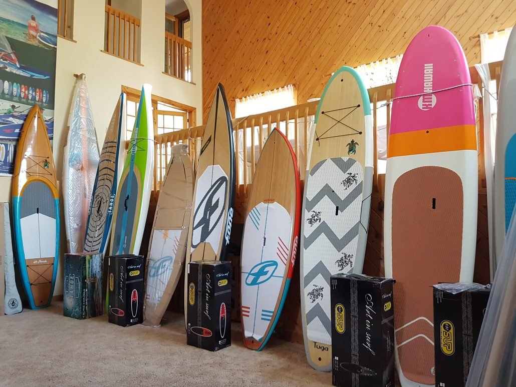 stand up paddle boards in stock at Maui North - inventory clear out, great deals and sales