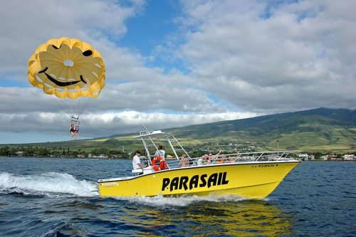 Enjoy an exciting ride above the Pacific ocean with West Maui Parasail