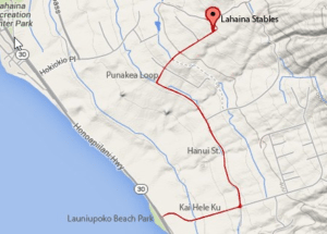 lahaina stables location map