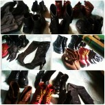 My BOOTS collection! I threw out 4 pairs already because of the flood ><