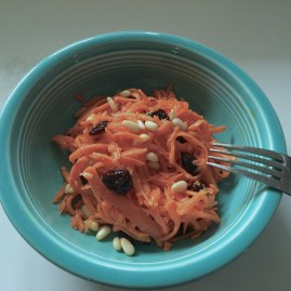 Grated Carrot Salad with Cherries and Pine Nuts
