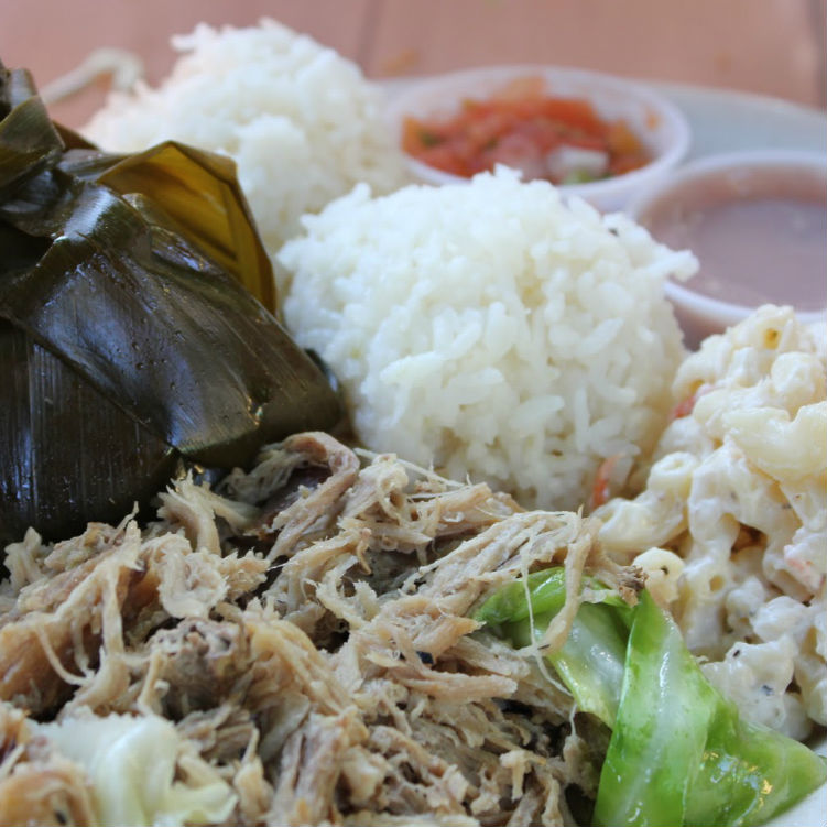 hawaiian plate lunch at aloha mixed plate lahaina