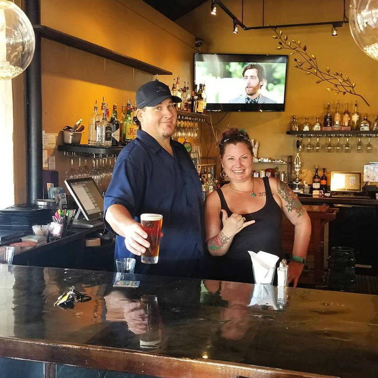 bartenders at sunsets bar and grill in kihei hi- maui happy hours