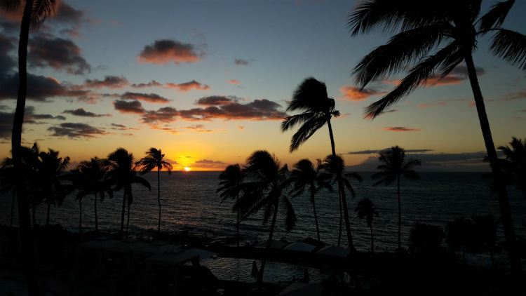 sunset ocean view maui restaurant - humble market kitchin