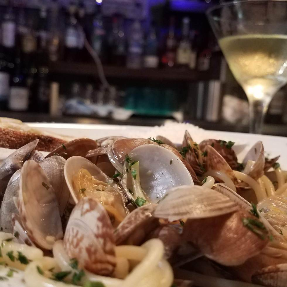 spaghetti with clams at pour house kapalua maui - best maui happy hour