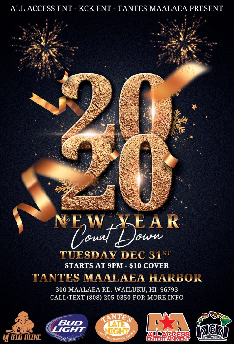 Tantes Maui Happy Hour - New Years Party 2020