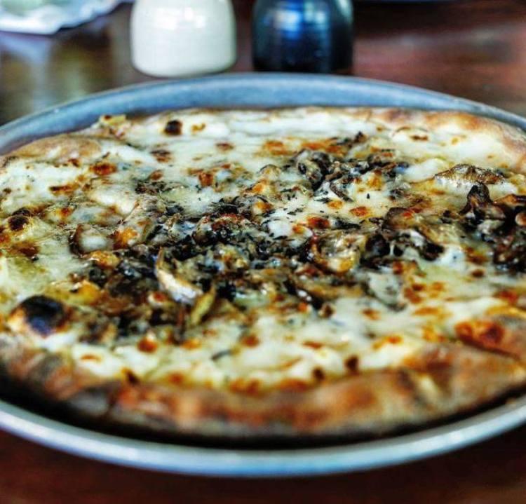 Monkeypod Happy Hour - Truffle Oil Pizza - Maui Happy Hours Wailea Hawaii Restaurants