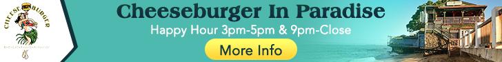 Cheeseburger In Paradise Lahaina Maui banner 728x90
